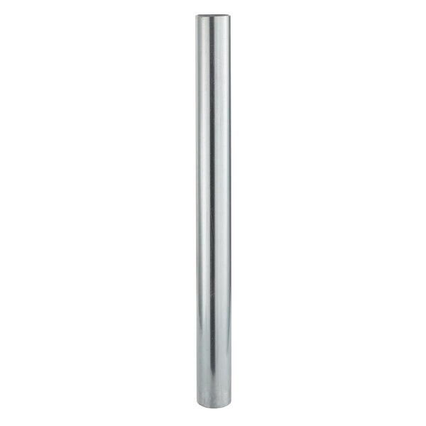 """17 3/4"""" Galvanized Steel Leg for Equipment Stands and Mixer Tables - 5"""" Casters Required Main Image 1"""