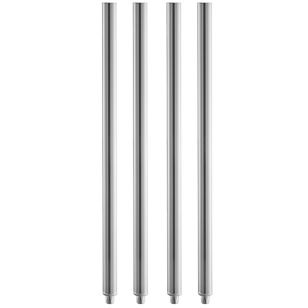 "32 1/4"" Stainless Steel Leg - 4/Pack Main Image 1"