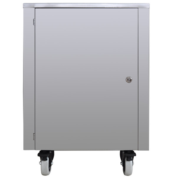 Spaceman CART550 Stainless Steel Cart with Storage Cabinet for Countertop Machines Main Image 1