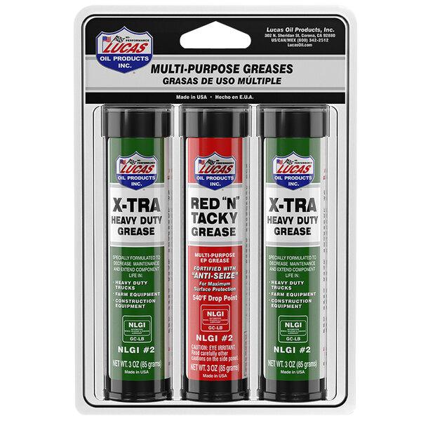Lucas Oil 10315 3 oz. Mini Grease Cartridge Multi Pack - 10/Case Main Image 1