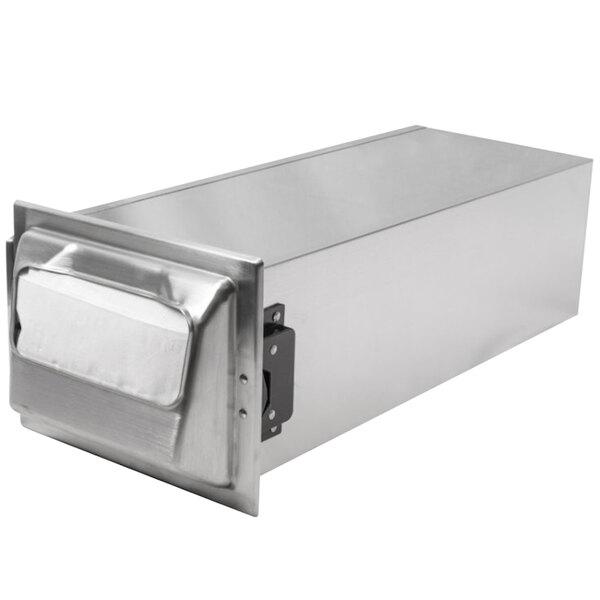 San Jamar H2001SC In-Counter Fullfold Stainless Steel Napkin Dispenser with Satin Chrome Finish Main Image 1