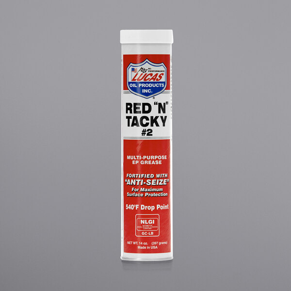 Lucas Oil 10005 14 oz. Red N Tacky Grease Cartridge - 30/Case Main Image 1