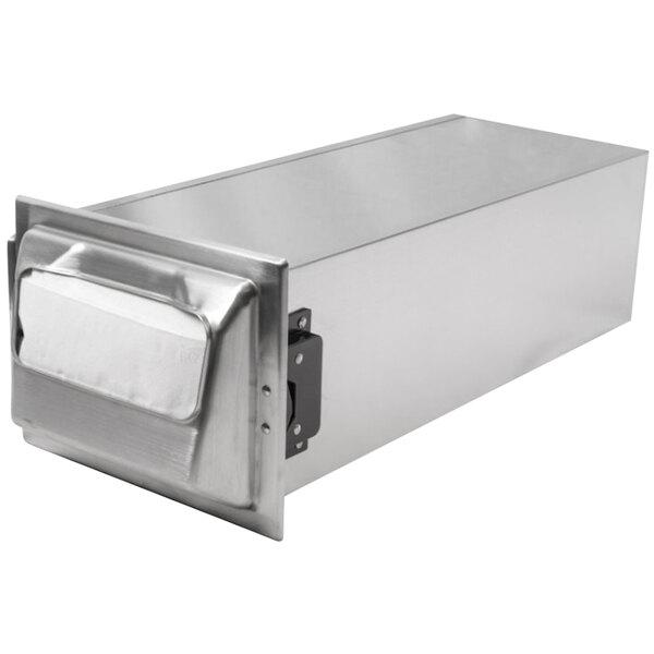San Jamar H2001SS12 In-Counter Fullfold Stainless Steel Napkin Dispenser Main Image 1