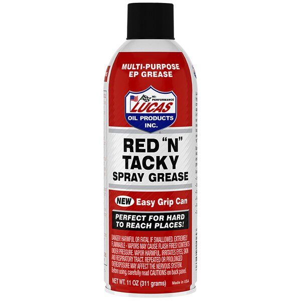 Lucas Oil 11025 11 oz. Red N Tacky Aerosol - 12/Case Main Image 1