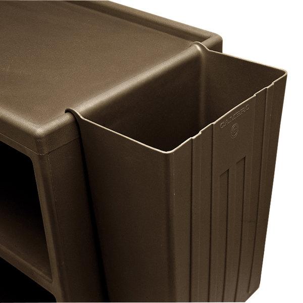 Cambro BC11TC131 Brown 11 Gallon Trash Container for Service Carts Main Image 1