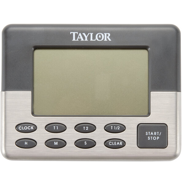 Taylor Dual Event Digital Timer w//Clock Black