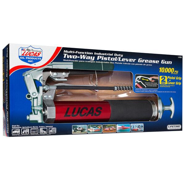 Lucas Oil L488 14 oz. Heavy-Duty Dual Lever-Pistol Grip Grease Gun Main Image 1