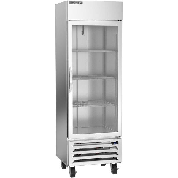 """Beverage-Air HBR19HC-1-G 27 1/4"""" Horizon Series Glass Door Reach-In Refrigerator Main Image 1"""