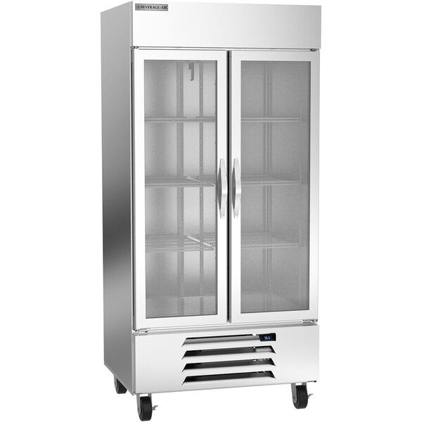 """Beverage-Air HBR35HC-1-G 39 1/2"""" Horizon Series Glass Door Reach-In Refrigerator Main Image 1"""