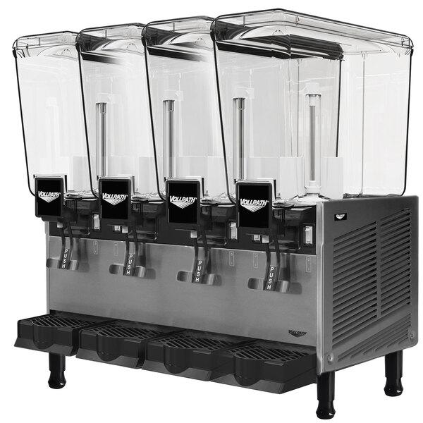 Vollrath VBBE4-37-S Quadruple 5.28 Gallon Bowl Refrigerated Beverage Dispenser with Stirring Paddle Circulation - 115V Main Image 1