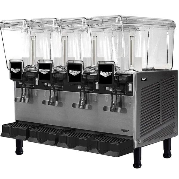 Vollrath VBBD4-37-S Quadruple 3.17 Gallon Bowl Refrigerated Beverage Dispenser with Stirring Paddle Circulation - 115V Main Image 1
