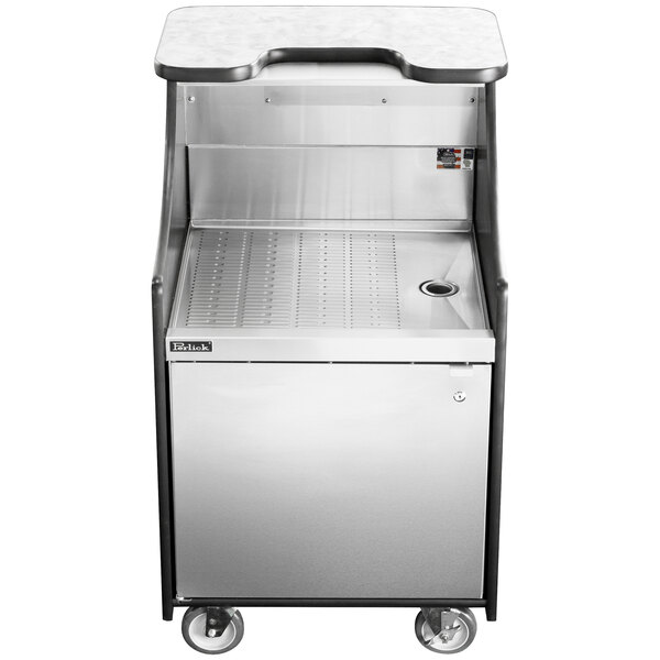 """Perlick MOBS-24DSC 24"""" Stainless Steel Mobile Storage Cart with Drainboard Main Image 1"""