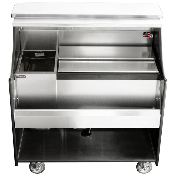 """Perlick MOBS-42TS 42"""" Stainless Steel Mobile Bar with Ice Chest - 120V Main Image 1"""