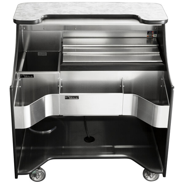 """Perlick MOBS-42TE Signature 42"""" Stainless Steel Mobile Bar with Ice Chest - 120V Main Image 1"""