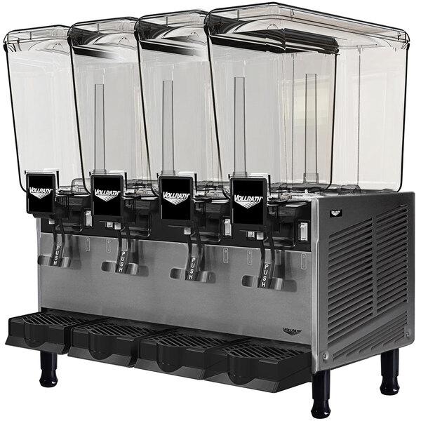 Vollrath VBBE4-37-F Quadruple 5.28 Gallon Bowl Refrigerated Beverage Dispenser with Fountain Spray Circulation - 115V Main Image 1