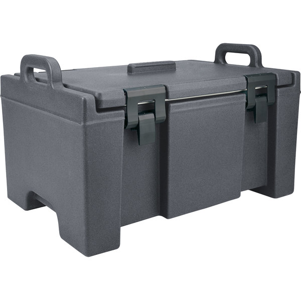 "Cambro UPC100191 Camcarrier® Granite Gray Top Loading 8"" Deep Insulated Food Pan Carrier Main Image 1"