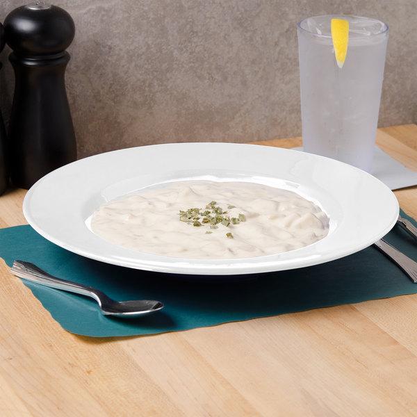 Thunder Group CR5811W White 16 oz. Melamine Pasta Bowl - 12/Case
