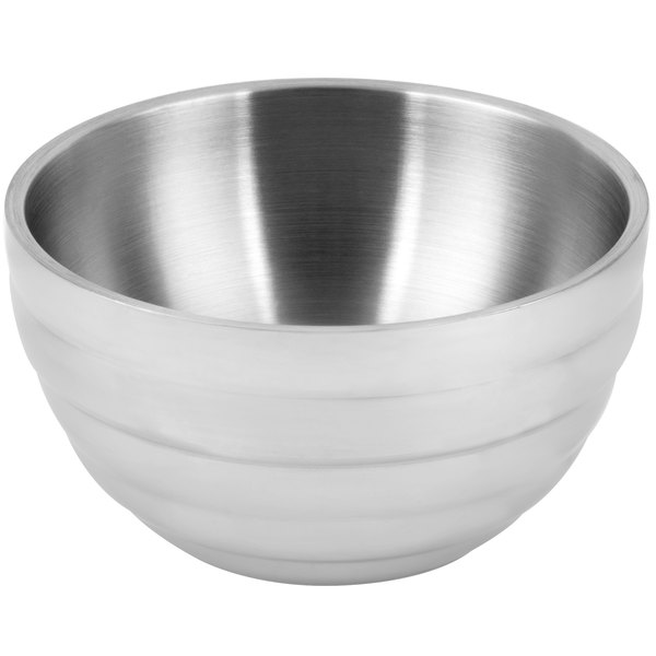 Vollrath 46587 24 oz. Stainless Steel Double Wall Round Beehive Serving Bowl Main Image 1