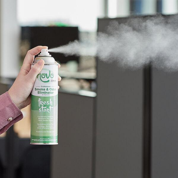 Novo by Noble Chemical 10 oz. Fresh Start Smoke & Odor Eliminator Air Freshener - 12/Case Main Image 2