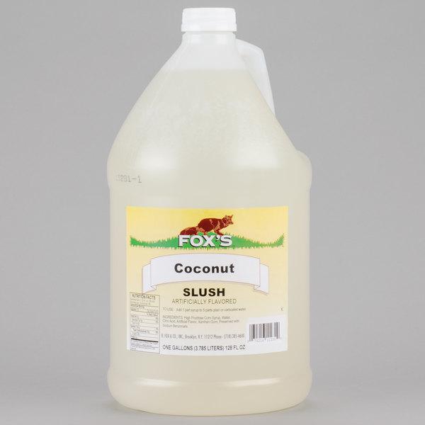 Fox's 1 Gallon Coconut Slush Syrup  - 4/Case