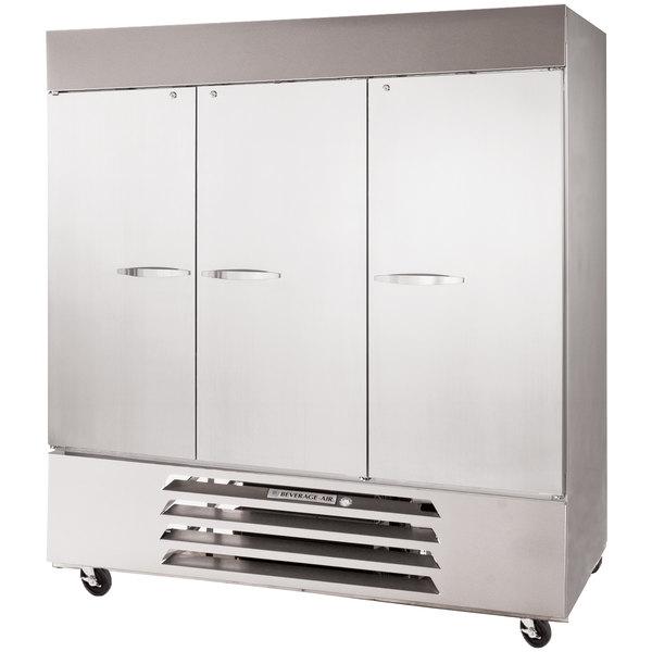 "Beverage-Air HBF72-1-S Horizon Series 75"" Solid Door Reach-In Freezer with LED Lighting"