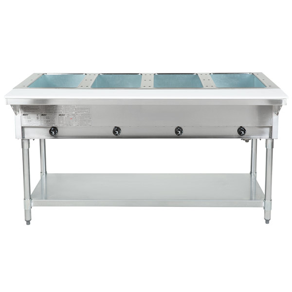 Eagle Group DHT4 Open Well Four Pan Electric Hot Food Table - 120V