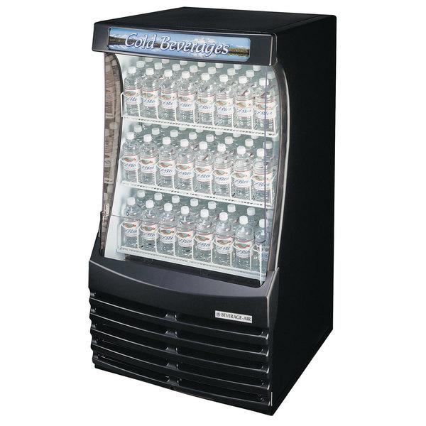 "Beverage-Air BZ13-1-B 30"" Black Breeze Open Refrigerated Display Case"