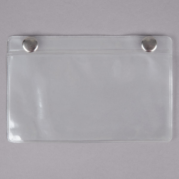 "Metro OP2535CLR Snap-On Card Holder - 3"" x 5"" Main Image 1"