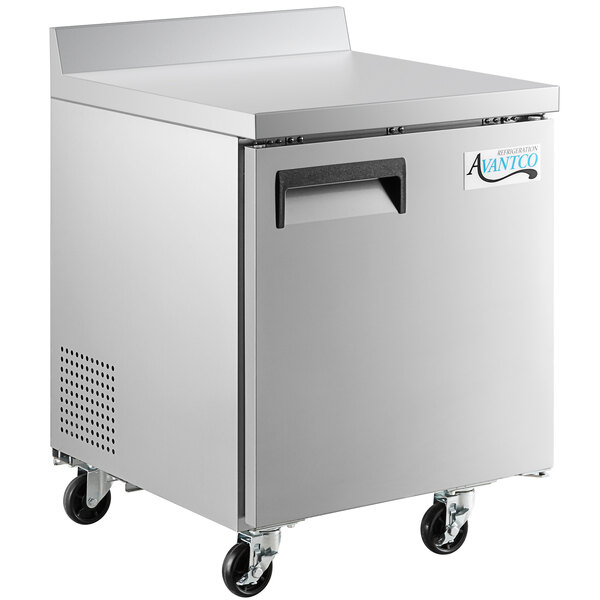 "Avantco AWT-27R-HC 27"" Worktop Refrigerator with 3 1/2"" Backsplash Main Image 1"