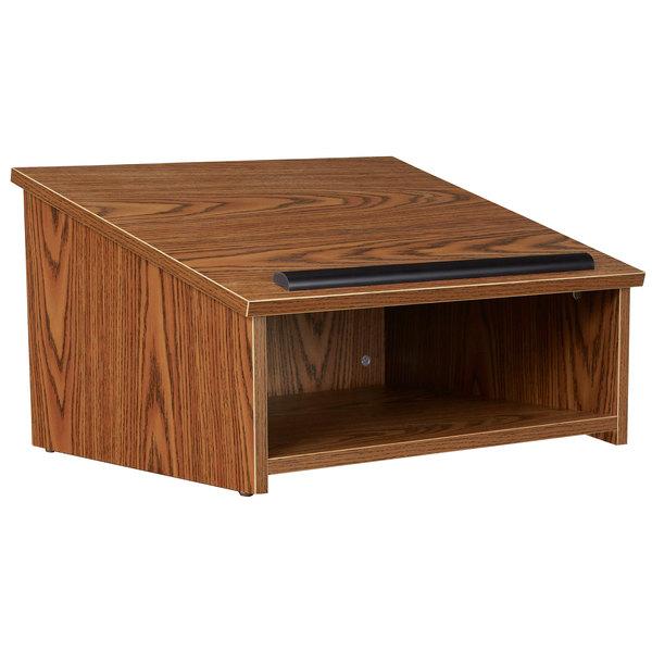 Oklahoma Sound 22-MO Medium Oak Finish Tabletop Lectern Main Image 1