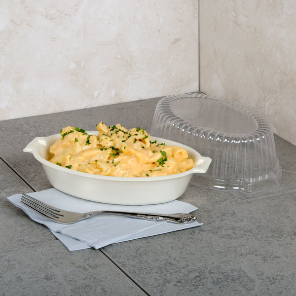 Dart 8CDHQR Quiet Classic 8 oz. Honey Laminated Oval Foam Casserole Dish - 1000/Case
