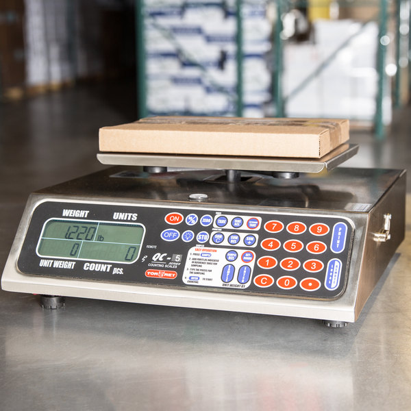 Tor Rey QC-5/10 10 lb. Table Top Counting Scale Main Image 6
