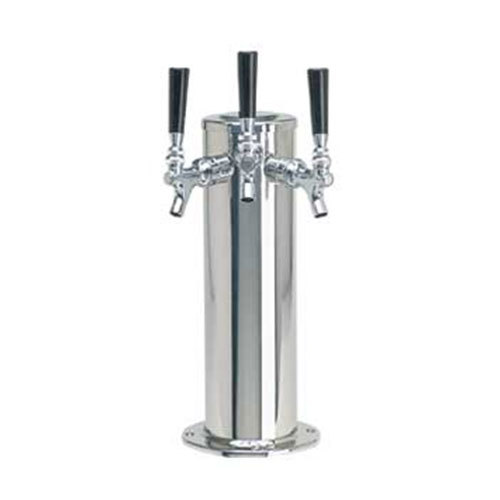 "Micro Matic DS-143-PSS Polished Stainless Steel 3 Tap Tower - 4"" Column"