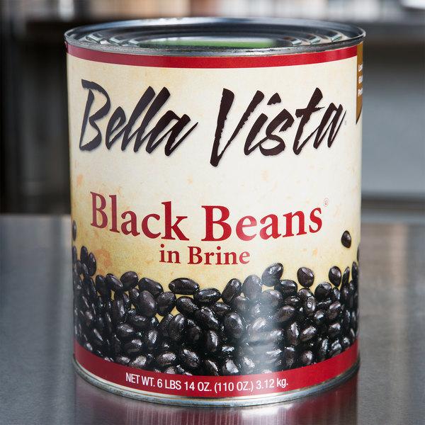 Bella Vista #10 Can Black Beans - 6/Case