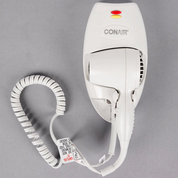 Conair 136w Mini Turbo White Wall Mount Direct Wire Hair