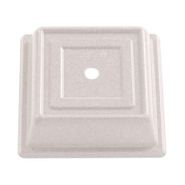 """Cambro 978SFVS380 Versa Camcover 10"""" Ivory Square Plate Cover - 12/Case"""