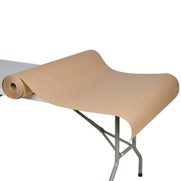 """40"""" x 300' 60# Brown Paper Roll Table Cover"""