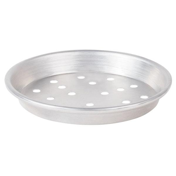 "American Metalcraft PADEP8 8"" x 1"" Perforated Standard Weight Aluminum Tapered / Nesting Deep Dish Pizza Pan"