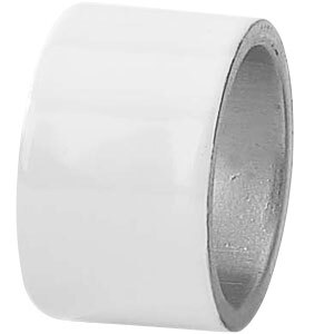 Tabletop Classics AC-6512W White 1 3/4 inch Round Acrylic Napkin Ring
