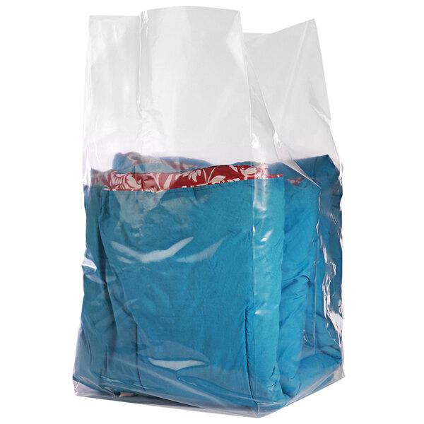 "Choice 20"" x 10"" x 36"" 2 Mil Clear Gusseted Polyethylene Bag on a Roll - 250/Roll Main Image 1"