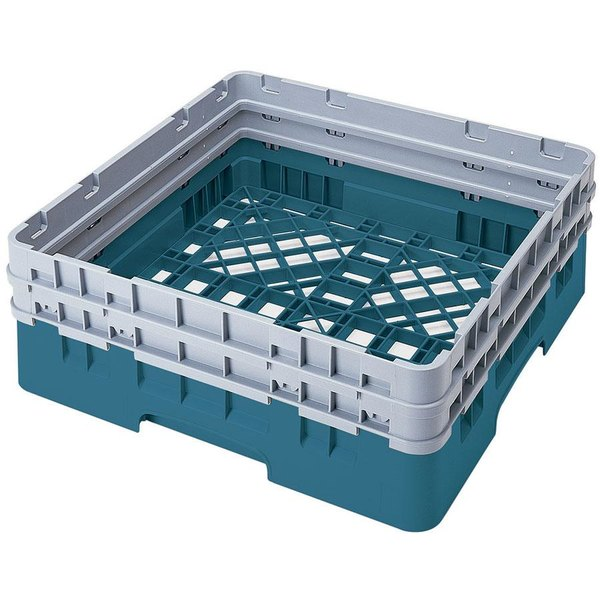 Cambro BR578414 Teal Camrack Full Size Open Base Rack with 2 Extenders Main Image 1