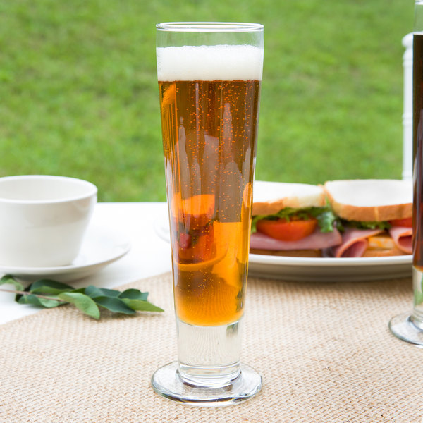Libbey 3823 Catalina 14 oz. Customizable Tall Footed Pilsner Glass - 24/Case Main Image 6