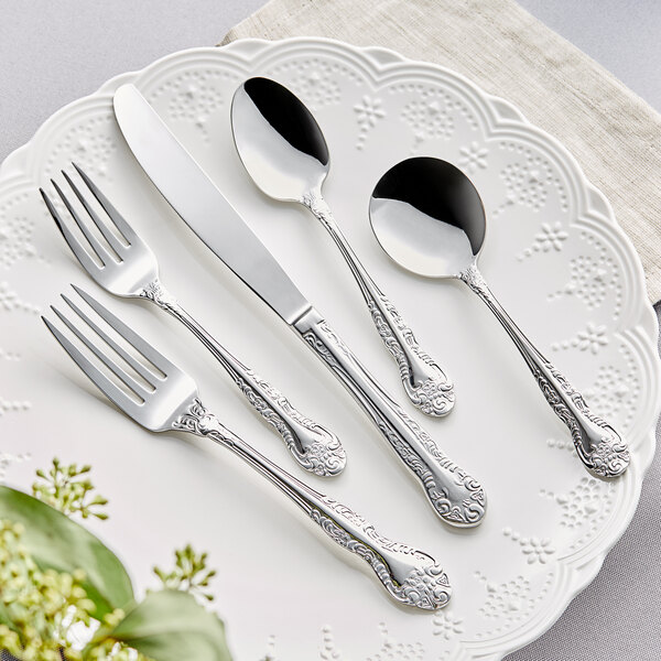 Acopa Capulet 18/0 Stainless Steel Heavy Weight Flatware Set with Service for 12 - 60/Case Main Image 2
