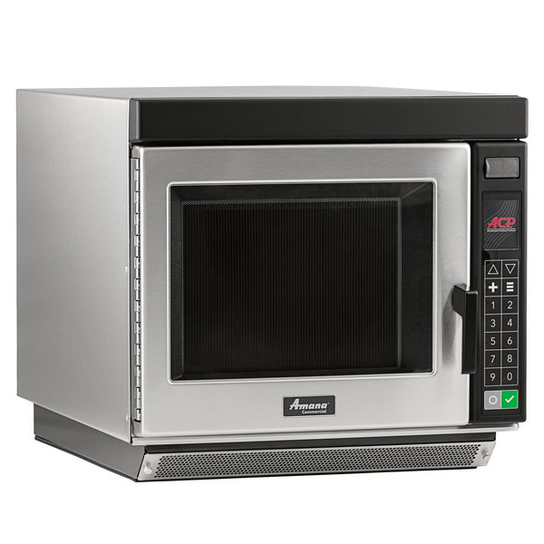 Amana RC22S2 Heavy Duty Stainless Steel Commercial Microwave Oven with Push Button Controls - 208/240V, 2200W Main Image 1