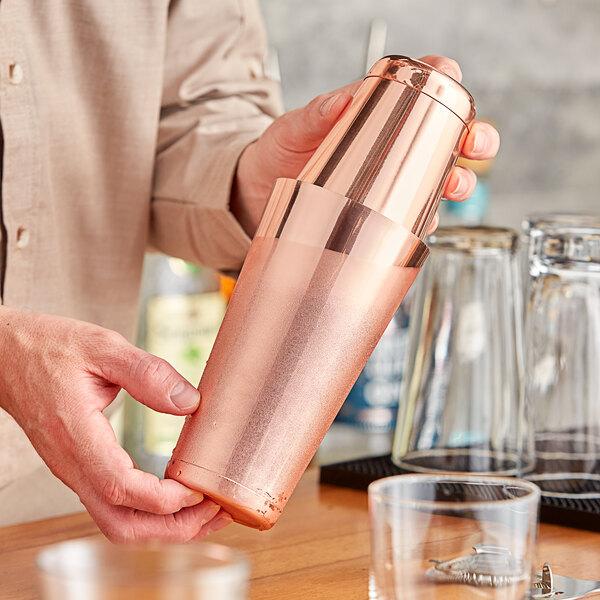 Choice 28 oz. & 18 oz. Copper 2-Piece Boston Shaker Set Main Image 2