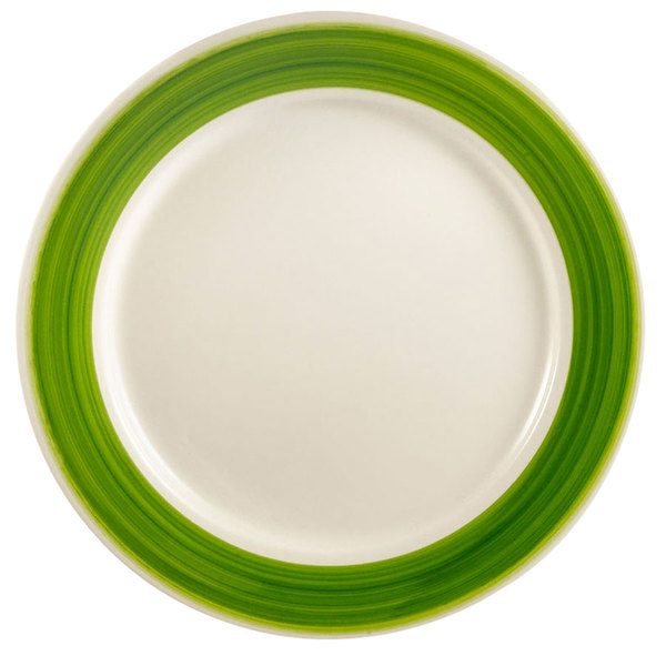 "CAC R-21GRE Rainbow Plate 12"" - Green - 12/Case"