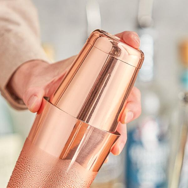 Choice 18 oz. Copper Half Size Cocktail Shaker Tin Main Image 2
