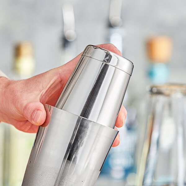 Choice 18 oz. Stainless Steel Half Size Cocktail Shaker Tin Main Image 2