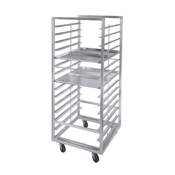 Channel 412S-DOR Double Section Side Load Stainless Steel Bun Pan Oven Rack - 30 Pan