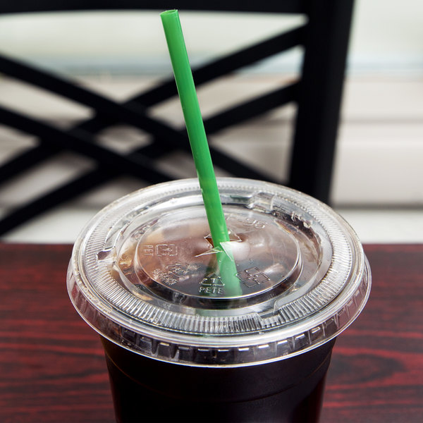 """Eco-Products EP-ST772 7 3/4"""" Jumbo Green Renewable and Compostable Wrapped Straw - 9600/Case"""